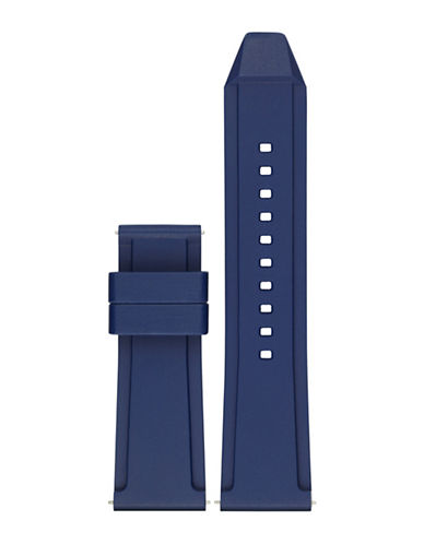 Michael Kors Grayson Blue Silicone Watch Strap-BLUE-One Size