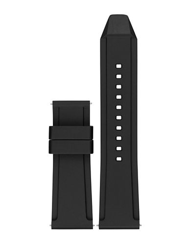 Michael Kors Grayson Black Silicone Watch Strap-BLACK-One Size