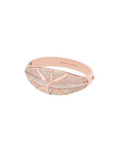 Michael Kors Starburst Pavé Rose Goldtone Statement Hinge Bracelet-ROSE GOLD-One Size