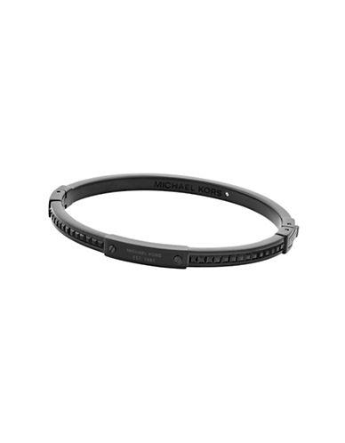 Michael Kors Color Crush Black IP Slim Bangle Bracelet-BLACK-One Size