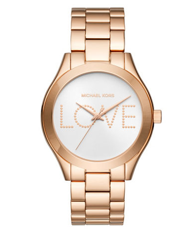 Michael Kors Slim Runway Rose Gold-Tone Watch-ROSE GOLD-One Size