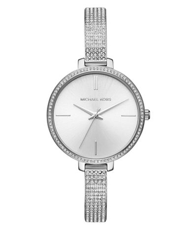 Michael Kors Jaryn Silver-Tone Stainless Steel Watch-SILVER-One Size
