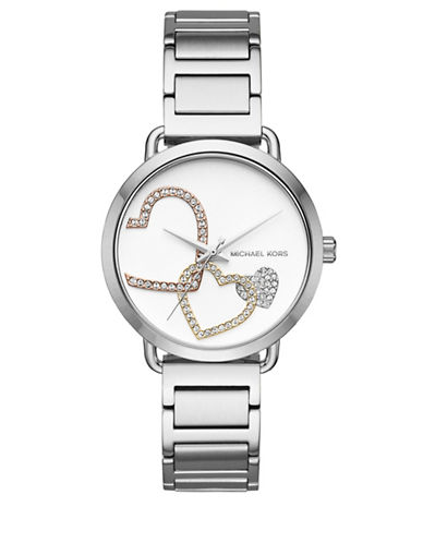 Michael Kors Portia Stainless Steel Watch-SILVER-One Size