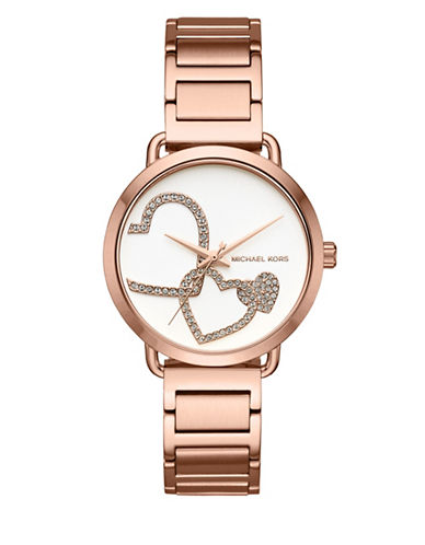 Michael Kors Portia Rose Goldtone Stainless Steel Watch-ROSE GOLD-One Size