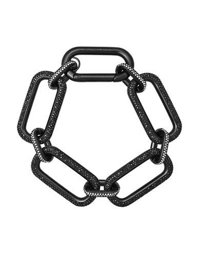 Michael Kors Iconic Links Statement Link Bracelet-BLACK-One Size