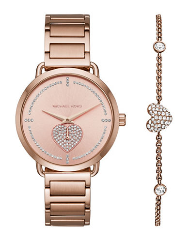 Michael Kors Slater Rose Gold-Tone Watch-ROSE GOLD-One Size