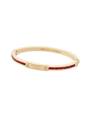 Michael Kors Color Crush Gold-Tone and Siam Slim Bangle Bracelet-GOLD-One Size