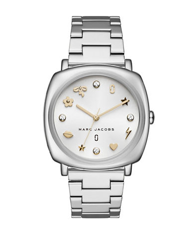 Marc Jacobs Mandy Stainless Steel Y-Link Bracelet Watch-SILVER-One Size
