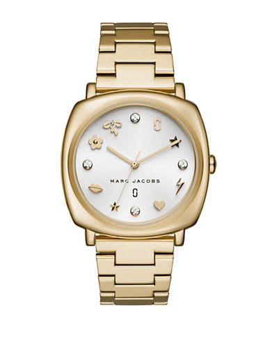 Marc Jacobs Mandy Goldtone Stainless Steel Link Bracelet-GOLD-One Size