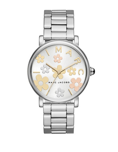 Marc Jacobs Classic Stainless Steel H-Link Bracelet Watch-SILVER-One Size