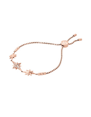 Michael Kors Starburst Pavé Rose Goldtone Slider Bracelet-ROSE GOLD-One Size