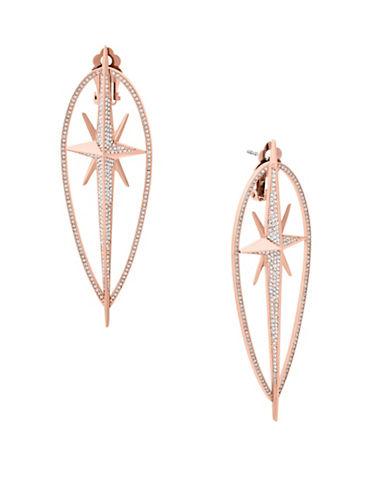 Michael Kors Starburst Pavé Rose Goldtone Statement Earrings-ROSE GOLD-One Size