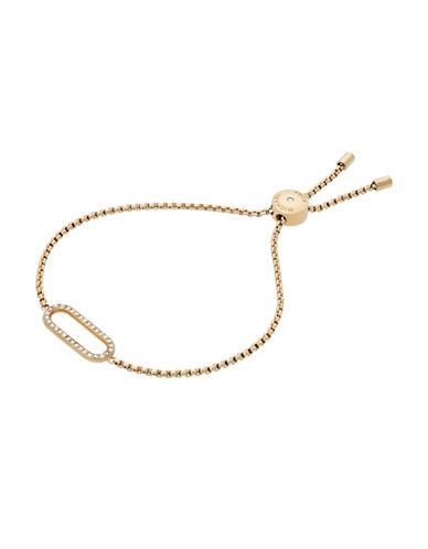 Michael Kors Iconic Links Goldtone Slider Bracelet-GOLD-One Size