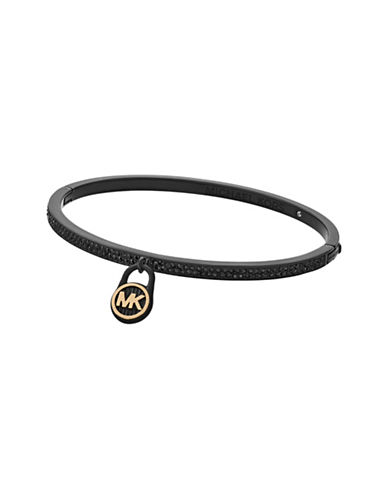 Michael Kors Logo Love Hinged Bracelet with Hamilton Charm-BLACK-One Size
