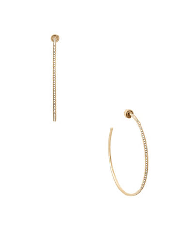 Michael Kors Iconic Links Goldtone Hoop Earrings-GOLD-One Size
