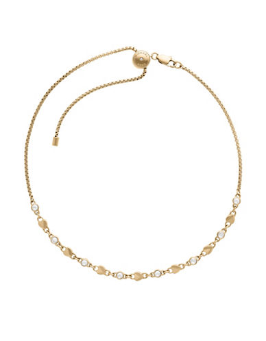 Michael Kors Logo Love Gold-Tone Choker Necklace-GOLD-One Size