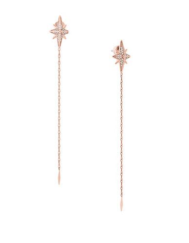 Michael Kors Starburst Pavé Rose Goldtone Linear Earrings-ROSE GOLD-One Size