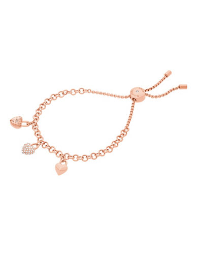 Michael Kors Logo Love Rose Gold-Tone Slider Bracelet-ROSE GOLD-One Size