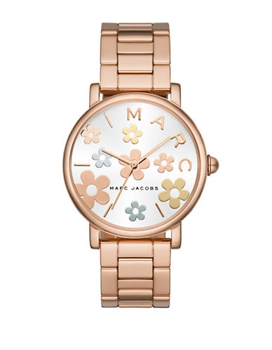 Marc Jacobs Classic Rose Goldtone Stainless Steel Link Bracelet Watch-ROSE GOLD-One Size