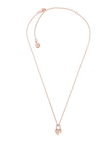 Michael Kors Logo Love Goldtone Necklace-GOLD-One Size