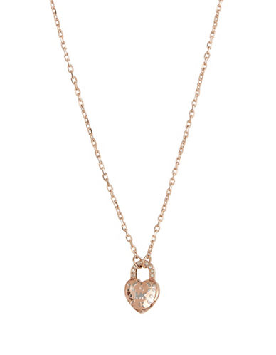 Michael Kors Crystal Pendant Necklace-ROSE GOLD-One Size
