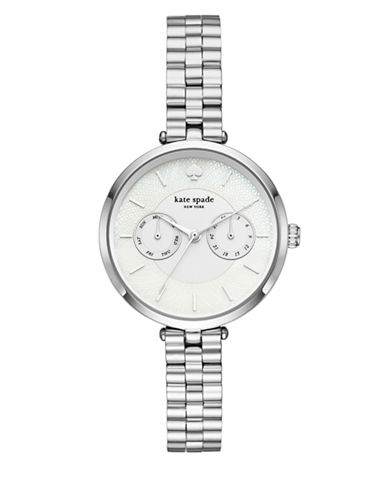 Kate Spade New York Holland New York Stainless Steel Link Bracelet Watch-SILVER-One Size