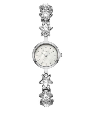 Kate Spade New York Star Chain Stainless Steel Chain Bracelet Watch-SILVER-One Size