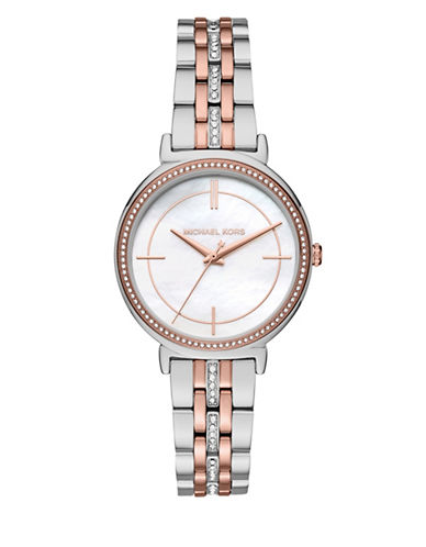 Michael Kors Cinthia Twotone Bracelet Watch-MULTI-One Size