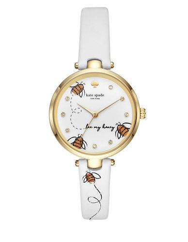 Kate Spade New York Honeybee Goldtone Leather Holland Watch 90044698
