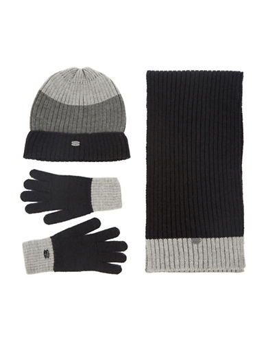 Pajar Knitted Hat, Scarf & Glove Box Set-BLACK-One Size