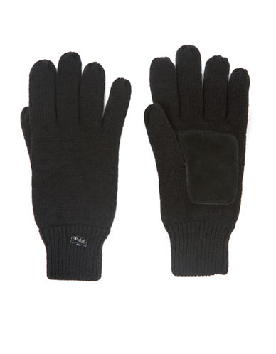 Pajar Knitted Gloves-BLACK-Medium/Large