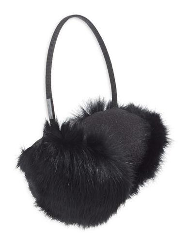 Pajar Mica Rabbit Fur Earmuffs-BLACK-One Size