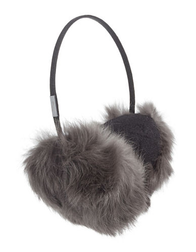Pajar Mica Rabbit Fur Earmuffs-CHARCOAL-One Size