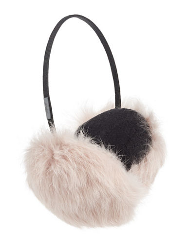 Pajar Mica Rabbit Fur Earmuffs-PINK-One Size