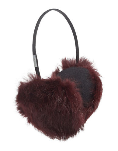 Pajar Mica Rabbit Fur Earmuffs-MULBERRY-One Size