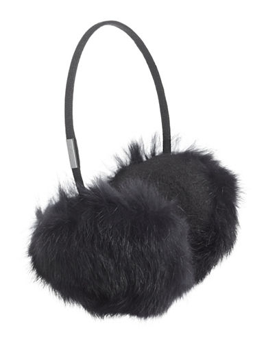 Pajar Mica Rabbit Fur Earmuffs-NAVY-One Size