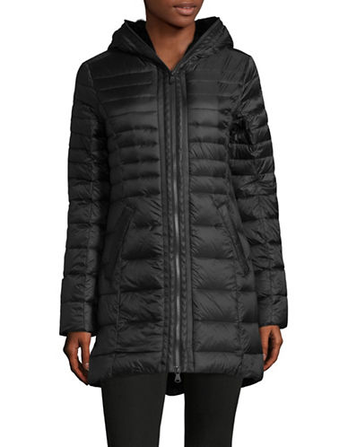 Pajar Celia Faux-Fur Trim Packable Down Jacket-BLACK-Small