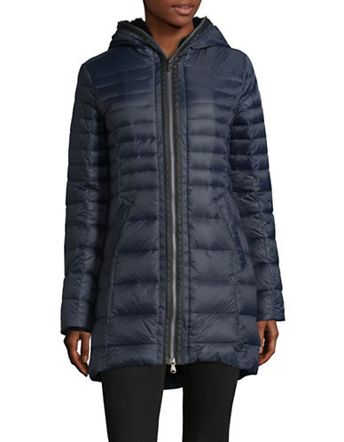 Pajar Celia Faux-Fur Trim Packable Down Jacket-NAVY-Small
