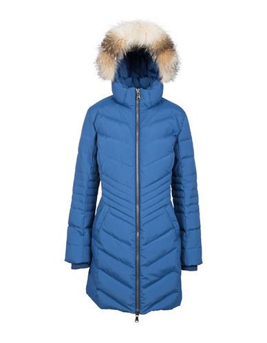 Pajar Queens Fox Fur-Trimmed Puffer Jacket-SPIRIT BLUE-Medium