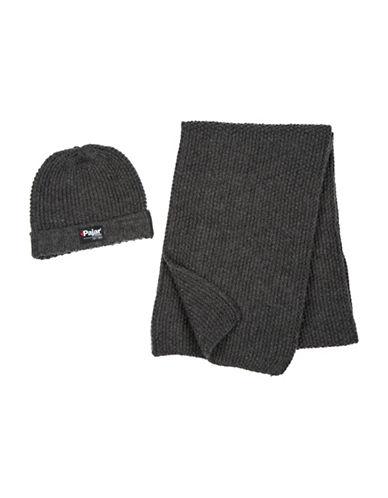 Pajar Knitted Beanie & Scarf Set-GREY-One Size