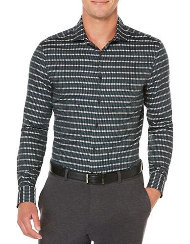 Perry Ellis Broken Geo Print Shirt-SAPPHIRE-X-Large