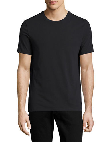 Perry Ellis Solid Pima Crew T-Shirt-BLACK-Small