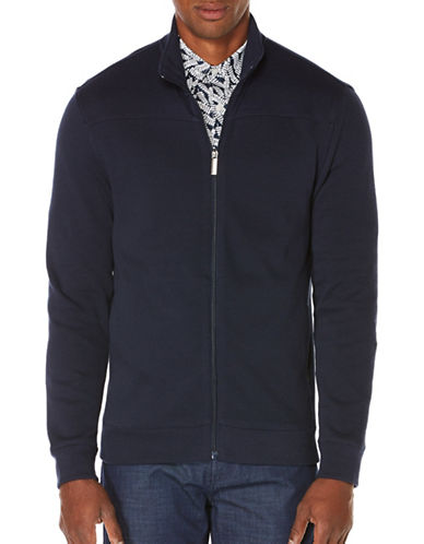 Perry Ellis Cotton Blend Bomber Jacket-BLUE-Medium 88731258_BLUE_Medium