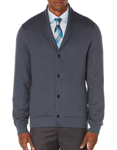 Perry Ellis Quilted Shawl Collar Jacket-GREY-XX-Large 88733415_GREY_XX-Large
