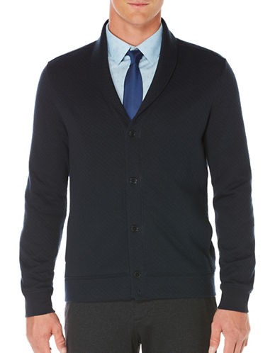 Perry Ellis Quilted Shawl Collar Jacket-BLUE-XX-Large 88733420_BLUE_XX-Large