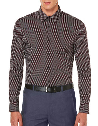 Perry Ellis Woven Print Shirt-PORT-Large