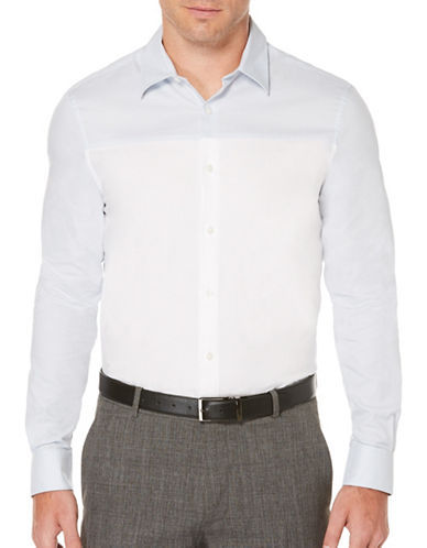 Perry Ellis Colourblock Woven Shirt-WHITE-Medium