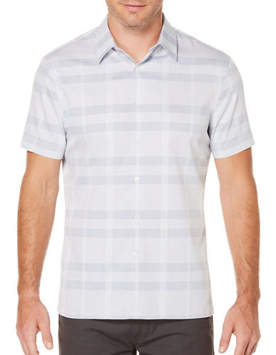 Perry Ellis Speckle Printed Woven Shirt-GREY-Medium