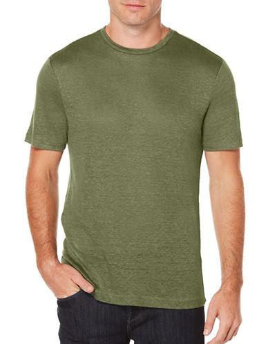 Perry Ellis Short Sleeve Linen Tee-GREEN-Small 89136053_GREEN_Small
