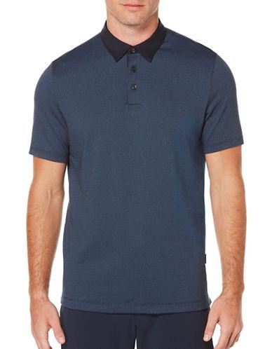 Perry Ellis Short Sleeve Jacquard Polo-BLUE-X-Large